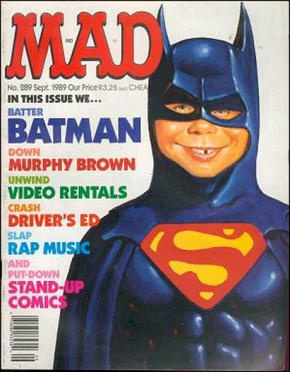 Mad 289 - Batman - Superman