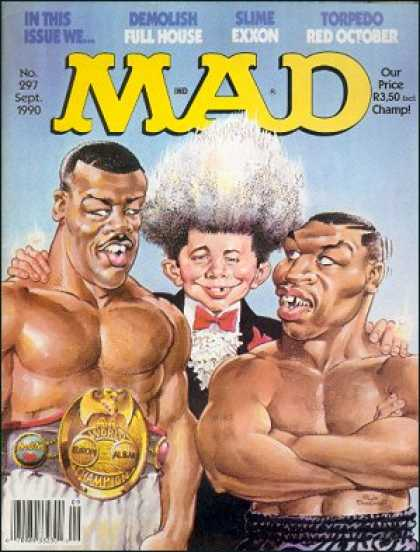 Mad 297 - Boxers - Champion Belt - Grey Afro - African American - Bowtie
