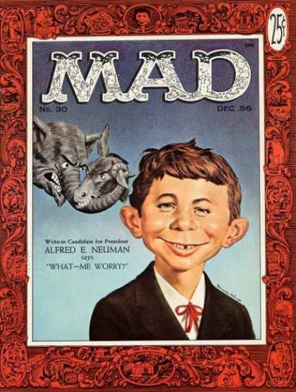 Mad 30 - Elephant - Donkey - Alfred E Neuman - What-me Worry - December Issue