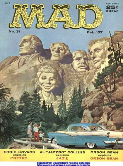 Mad 31 - Mount Rushmore - Lincoln - Roosevelt - Neuman - Kovacs