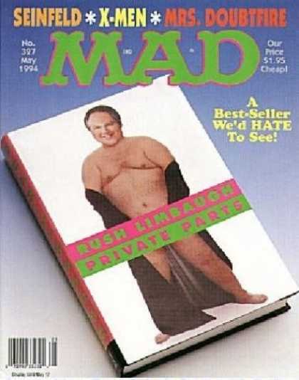 Mad 327 - Seinfeld - Mrs Doubtfire - X-men - Rush Limbaugh - Private Parts