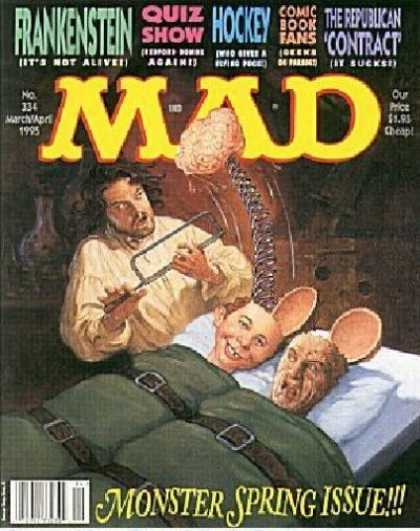 Mad 334 - Brain - Frankenstein - Monster Spring Issue - Doctor - Experiment