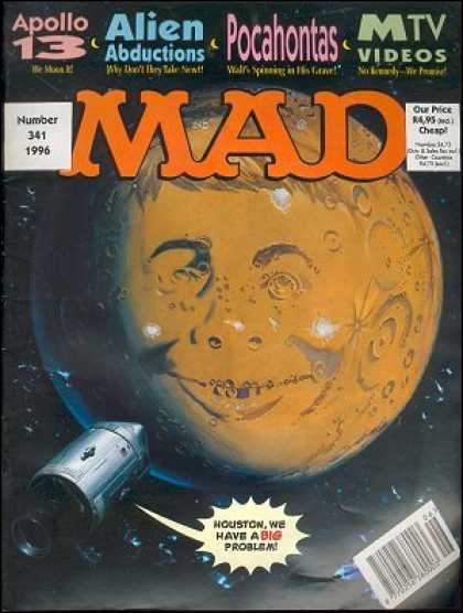 Mad 341 - Moon - Apollo 13 - Alien Abductions - Number 341 - Pocahontas