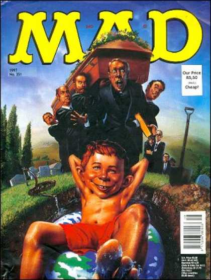 Mad 351 - Funeral - Coffin - The Funeral - Kiddo - Coffin Carriers
