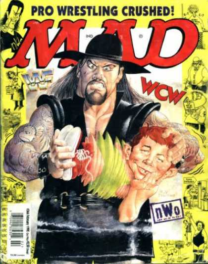 Mad 366 - Pro Wrestling Crushed - Wrestling - Wrestler - Nwo - Yellow