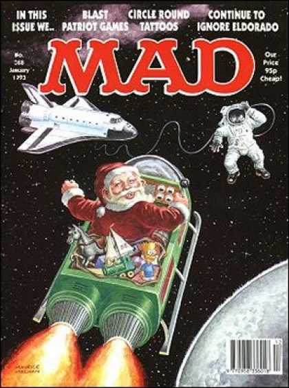 Mad 368 - Outer Space - Santa Claus - Space Ship - Astronaut - Planet