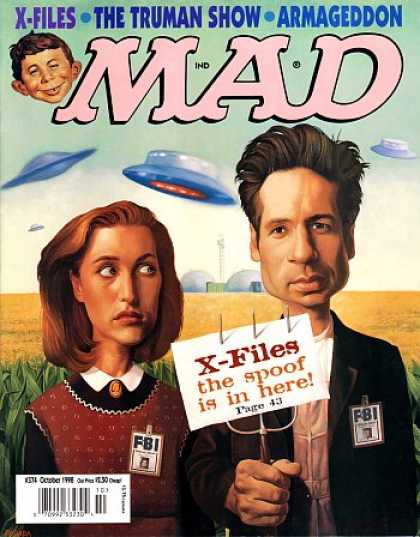 Mad 374 - X-files - American Gothic - The Truman Show - Armageddon - Spoof