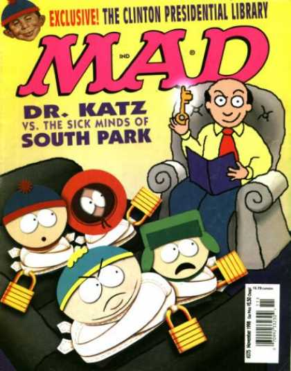 Mad 375 - Dr Katz - South Park - Key - Clinton - Armchai