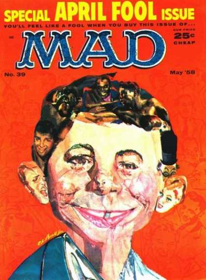 Mad 39 - April Food Issue - May 1958 - No 39 - Alfred E Neuman - Elvis