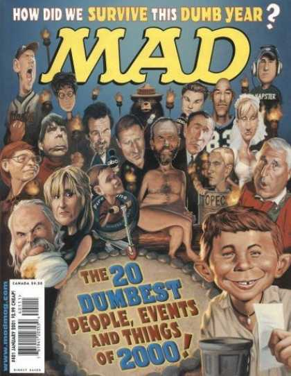 Mad 401 - Smokey The Bear - Caricatures - Survivor Winner - Baseball Player - George Bush