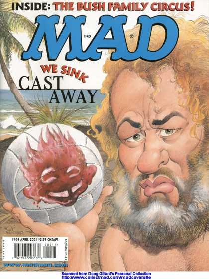 Mad 404 - Castaway - Tree - Sea - We Sink Cast Away - April