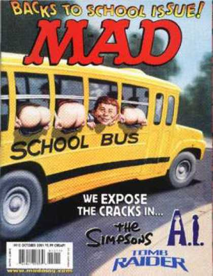Mad 410 - School Bus - Butts - Bus - Derrierres - Windows