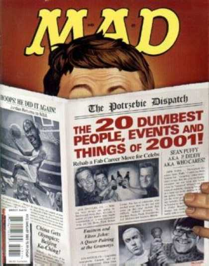 Mad 413 - Newspaper - Alfred Neuman - Michael Jordan - Dunk - Lists