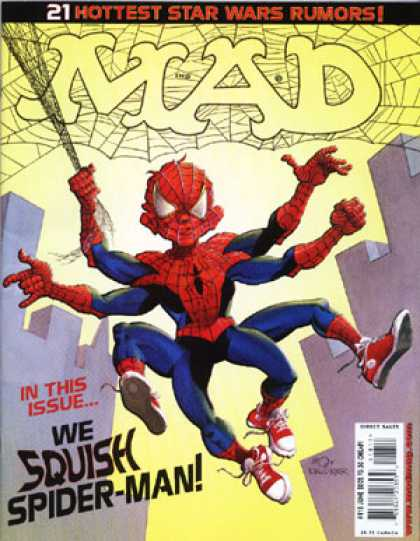 Mad 418 - Star Wars - Web - Spider-man - 8 Legged Spiderman - Alien Spiderman