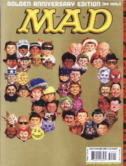 Mad 423 - Golden Anniversary - Alfred E Neuman - Faces - Personalities - Characters