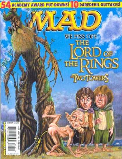 Mad 428 - Frodo - Sam - Gollum - Pee - Tree