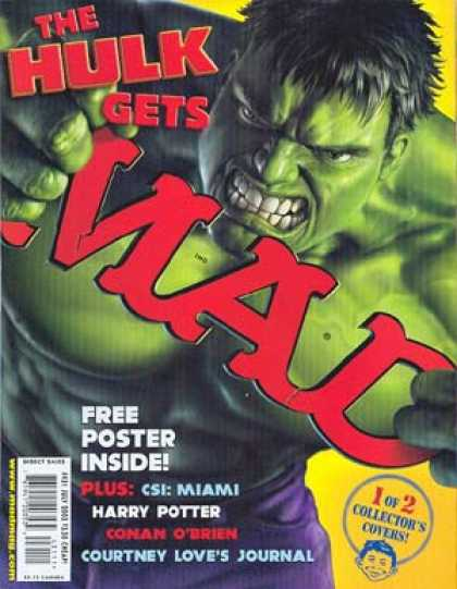 Mad 431 - Hulk - Green Monster - Mutant - Free Poster Inside - Harry Potter