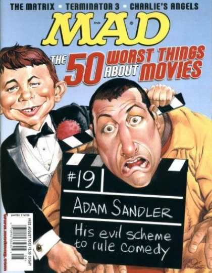 Mad 432 - Adam Sandler - Terminator - Geltle Man - Hollywood - Cinema