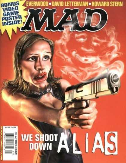 Mad 441 - Lady - Cartoon - Gun - Alias - Mad