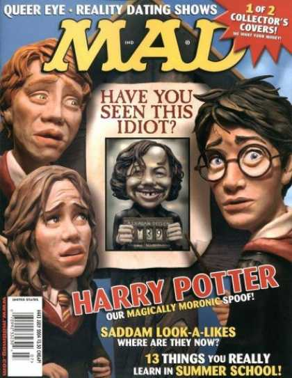 Mad 443 - Have You Seen This Idiot - Harry Potter - Our Magically Moronic Spoof - Saddam Look-a-likes - Queer Eye