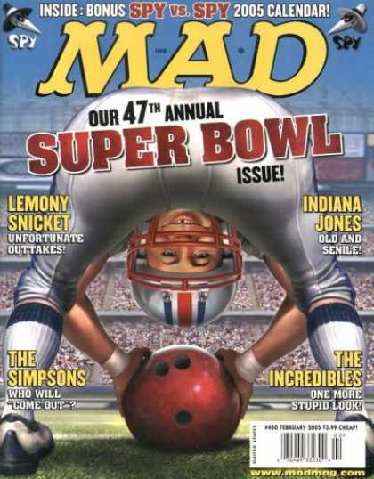 Mad 450 - Super Bowl - Lemony Snicket - Indiana Jones - The Simpsons - The Incredibles