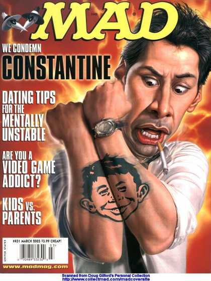 Mad 451 - Constantine - Dating Tips - March - 2005 - Tattoo