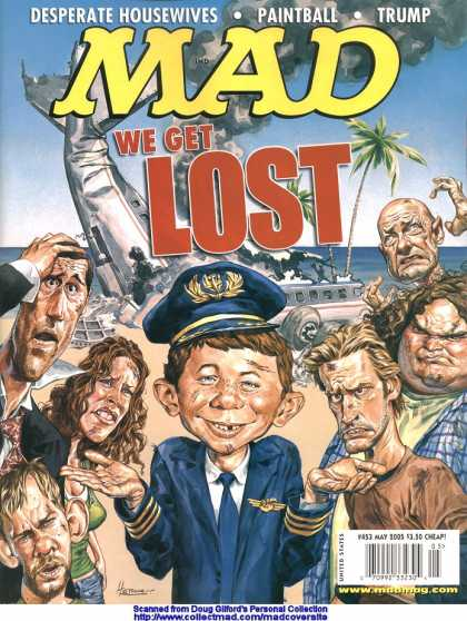 Mad 453 - Ugly Boy - Pilots Hat - Crashed Airplane - Angry People - Desserted Island