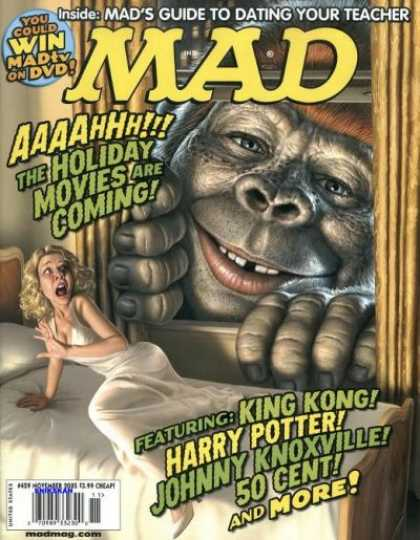 Mad 459 - King Kong - Bed - Curtains - Holiday Movies - Harry Potter