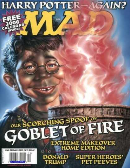 Mad 460 - Harry Potter - Free - Inside - Calendar - Extreme