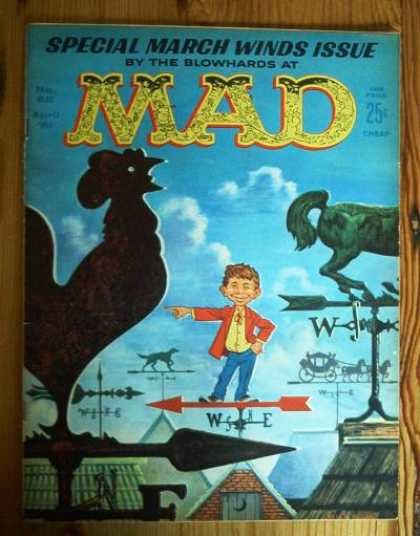 Mad 62 - Rooster - Weather Vanes