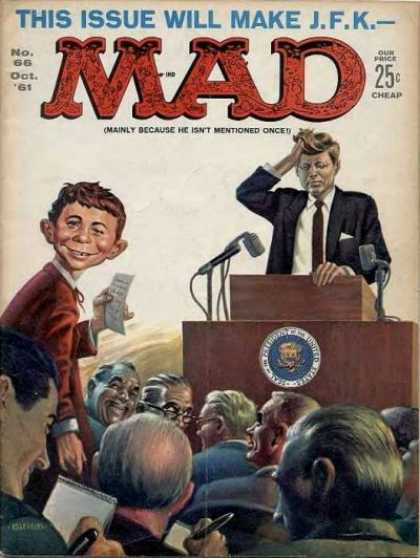 Mad 66 - Kennedy - John F Kennedy - President - Puppet - Press