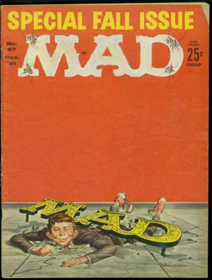 Mad 67 - Special Fall Issue - Cheap - Boy - Wall - Floor