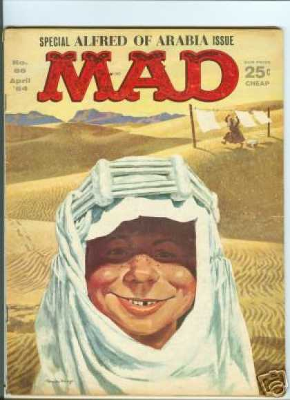 Mad 86 - Special Alfred Of Arabia Issue - Desert - Sand - Cloth - Cheap