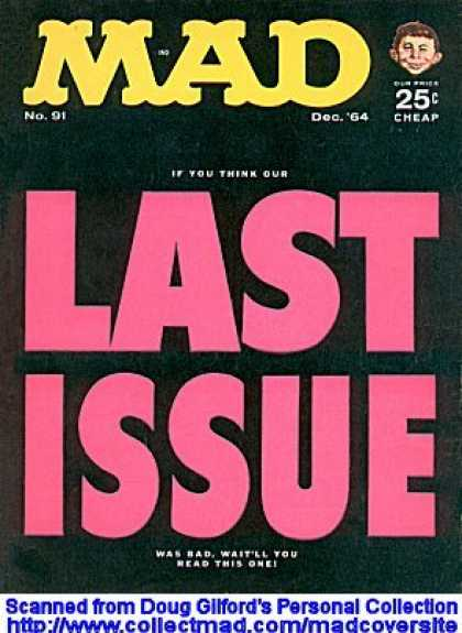 Mad 91 - Last Issue - Mad - Last Mad - Mad Issue - Mad Final Issue