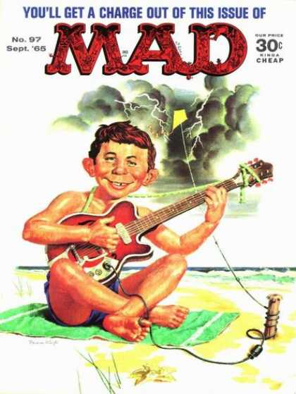 Mad 97 - Guitar - Beach - Youll Get A Charge Out Of This Issue - Boy - Lighting