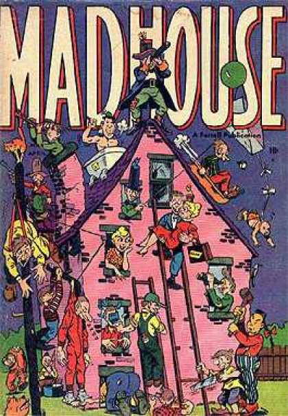 Madhouse 1 - Ladder - Bath Tub - Chimney - Balloon - Windows