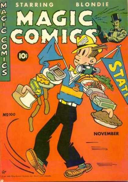 Magic Comics 100 - Food - Flags - The Game - Pie - Blondie