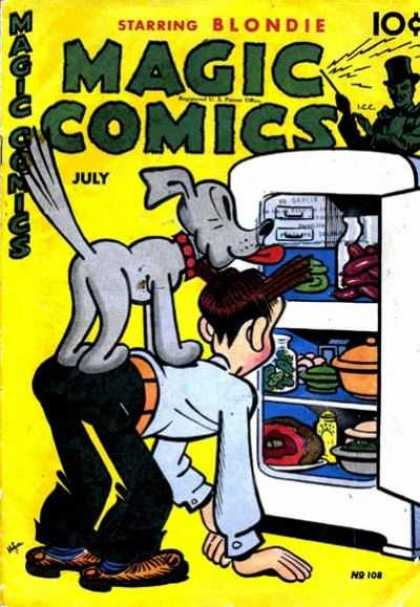 Magic Comics 108 - Dagwood - Dog - Fridge - Food - Containers