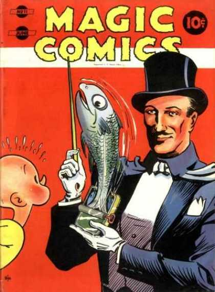 Magic Comics 11 - Magician - Fish - Pin - Show - No 22