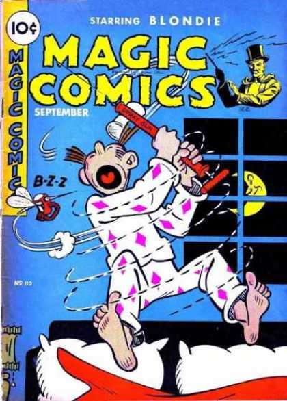 Magic Comics 110 - Blondie - Bed - Window - Moon - Pajamas