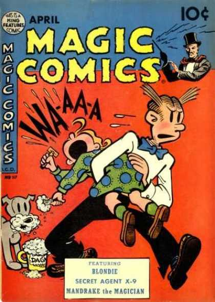 Magic Comics 117 - Girl - Dog - Man - Blondie - Secret Agent X-9