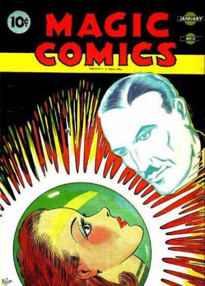 Magic Comics 18 - January - Drystal Ball - Face - Woman - Man