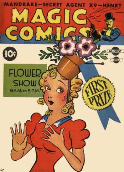 Magic Comics 25 - Flower Pot - Red Dress - Blonde Hair - Female - Magic