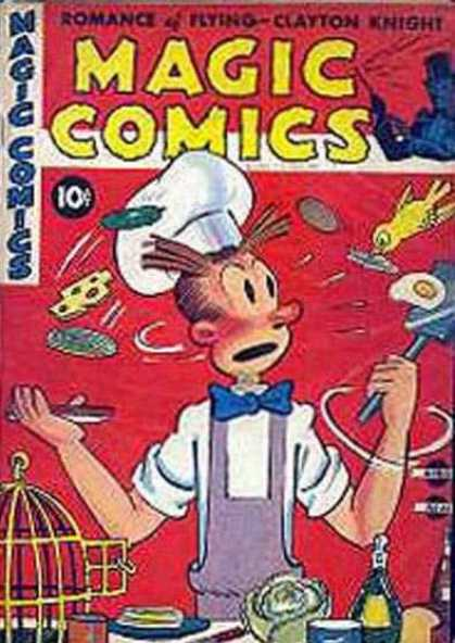 Magic Comics 33 - Cooking Gone Wrong - Chef - Food In The Kitchen - Bird Wanting To Eat - Making A Sandwich