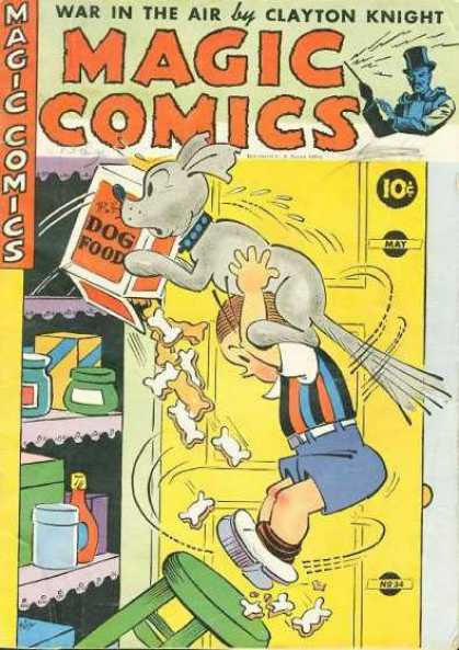 Magic Comics 34 - War In The Air - Dog Food - Dog - Jars - Stool