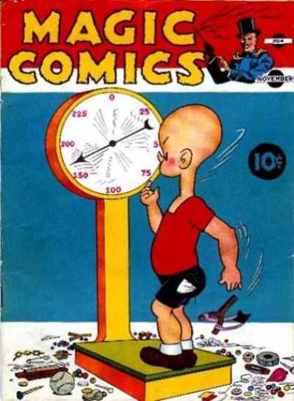 Magic Comics 4 - Scale - Untidy - Kid - Slingshot - Baseball