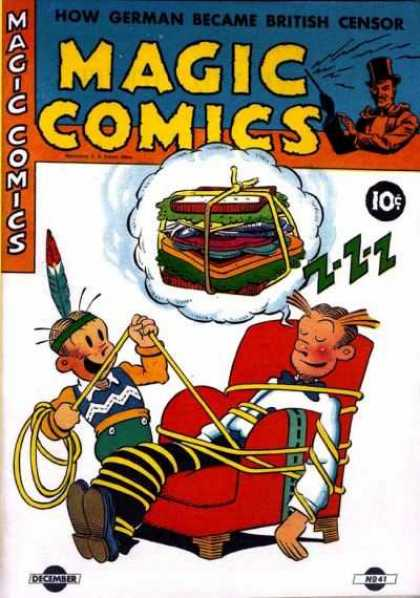 Magic Comics 41 - How German Became British Censor - Boy - Rope - Chair - December