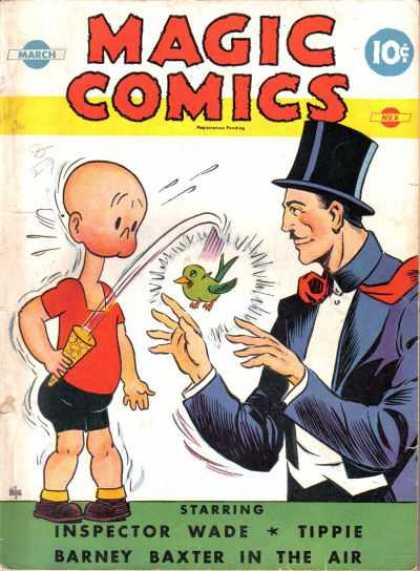 Magic Comics 8 - Magician - Green Bird - Inspector Wade - Tippie - Barney Baxter