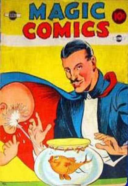 Magic Comics 9 - Fish - Fishbowl - Squirt - Face - Magician
