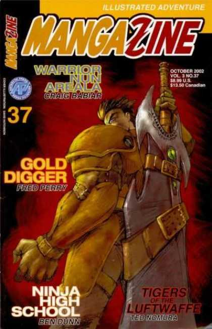 Mangazine 3 37 - Armor - Giant Weapon - Gold Digger - Warrior Nun Areala - October 2002